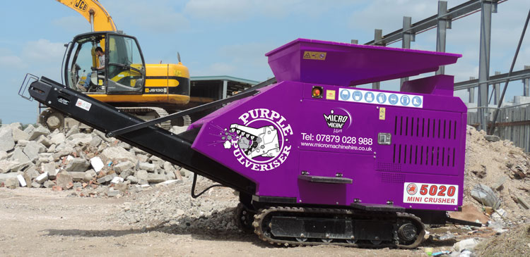Purple Pulveriser Concrete Crusher 5020