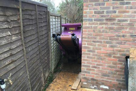 Very tight access, Micro Machine Hire, concrete crushers