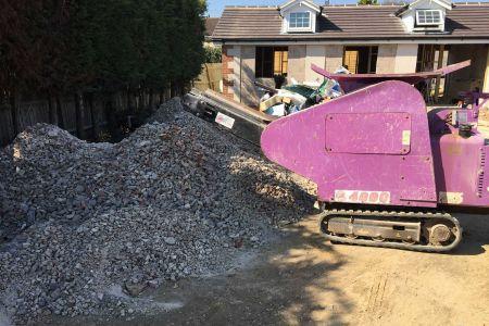 4000 Purple Pulveriser micro concrete crusher hire