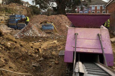 5020 Purple Pulveriser concrete crusher