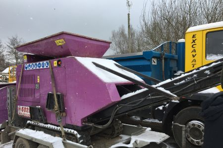 Purple crusher in the snow